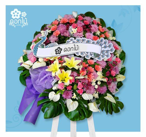 พวงหรีดดอกไม้สด – 4000 (1)